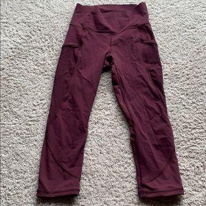 Lululemon high waisted crop leggings